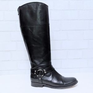 Frye Melissa Harness Inside Zip Wide Calf Boot 7